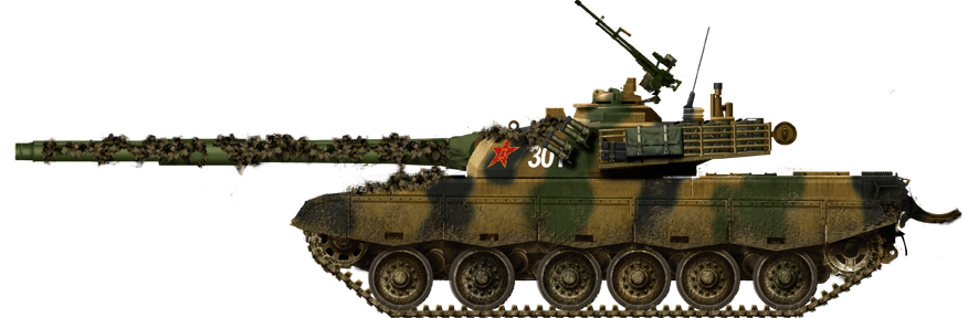 Type 96 in maneuvers