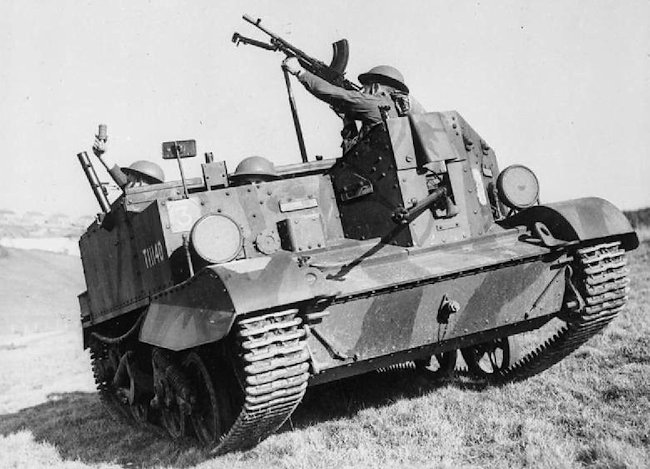 Universal carriers were armed with a number of different weapons