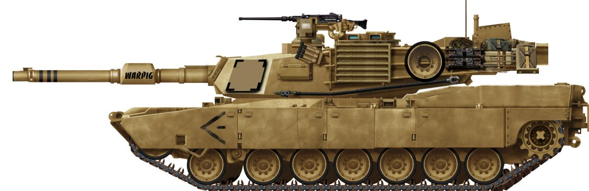 Tanque M1A2 Abrams do Exército dos EUA