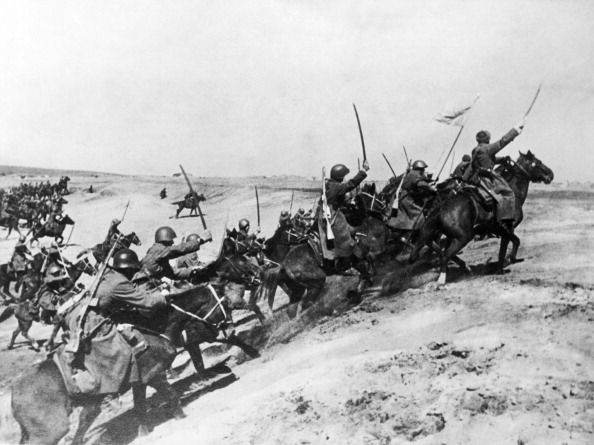 Russian Cavalry in action