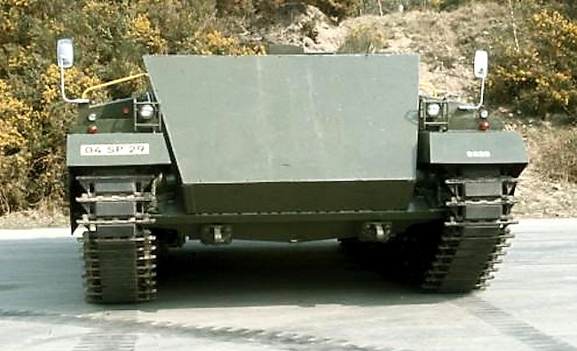 Front view of the Chieftain Casement Test Rig (CTR) SPG