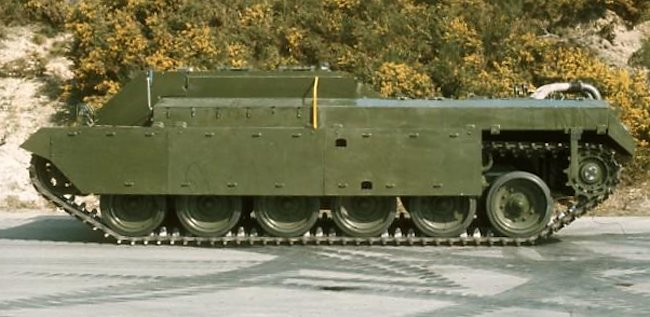 Chieftain Casement Test Rig prototype without the gun fitted
