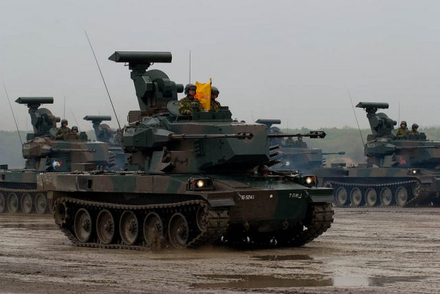 Type 87s taking part in maneuvers.