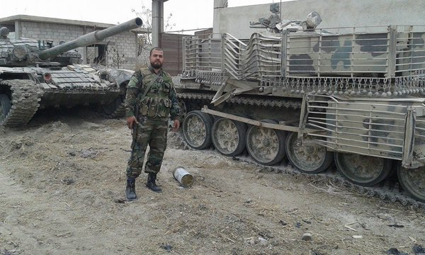 Damaged T-72 Mahmia, 1st generation. It is unclear what has caused this damage to the vehicle.