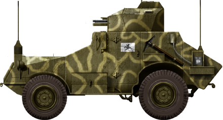 A camouflaged Panhard 175 TOE of the 3rd BCA (Bataillon de Chasseurs d'Afrique)