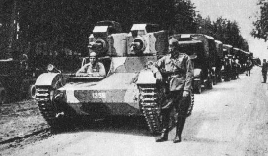 A twin-turreted Polish Vickers Mark E. This was the supposed base vehicle for the PZInz 126 - Source: Derela.Republika.pl
