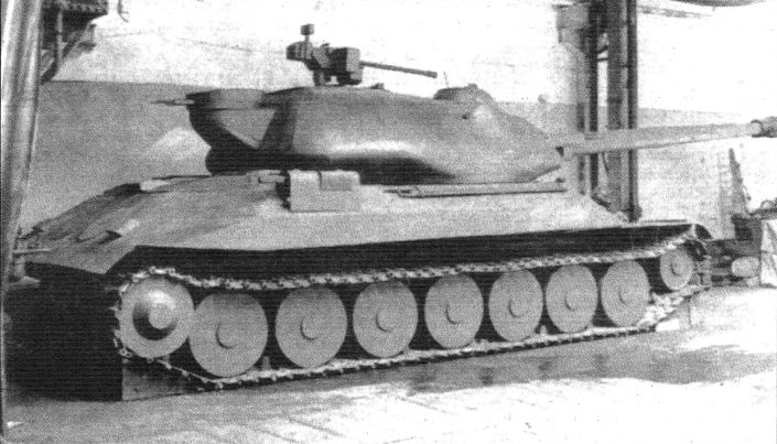 The wooden mockup of the IS-7, at this point known as the Object 260