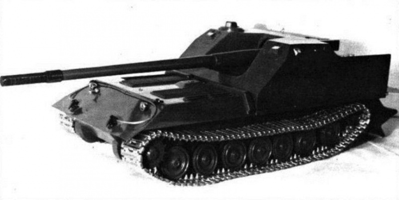 The small-scale mock-up of the Object 263