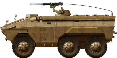 Export EE-11 APC in a sand livery