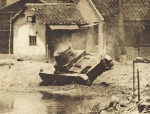 Standard Mark E Type B, apparently knocked out. Battle of Shanghai, 1937
