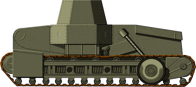 A reconstruction of the tank claimed to be the WB-10, based on the available photographs - Illustrator: Jarosław Janas.
