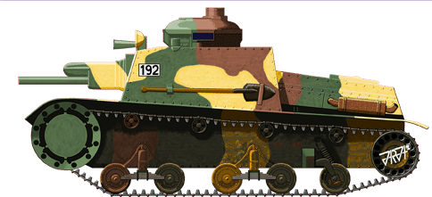 Illustration of the Škoda Š-I-D or T-32 tankette by Jarosław Janas