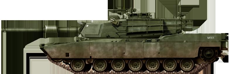 120mm Gun Tank M1E1 Abrams