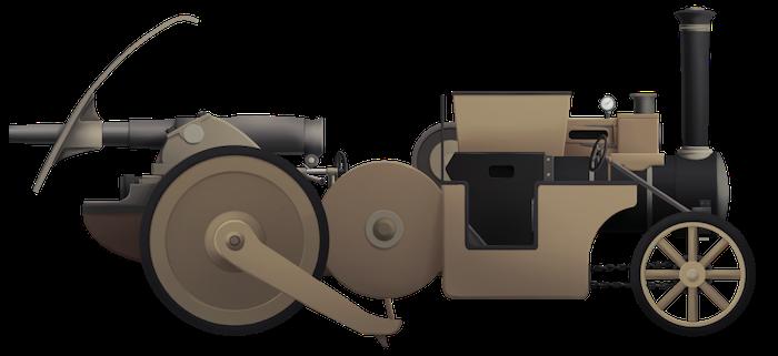 Mann's Armoured Steam Cart