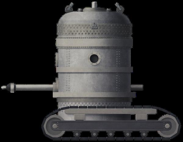 Reno's Endless Belt Tractor – Underwater 'Tank'