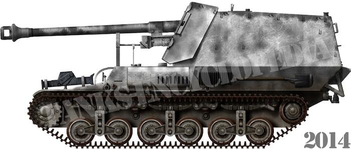 7.5 cm PaK 40 auf Sfl. Lorraine Schlepper 'Marder I' (Sd.KFz.135)