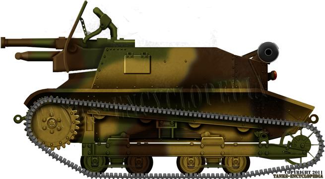 TKD tankette in a 3-tone livery
