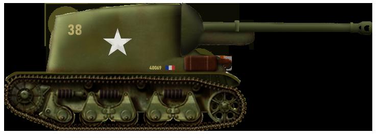 Chasseur de Char de 76,2mm AMX sur châssis R35 (rear-facing proposal)