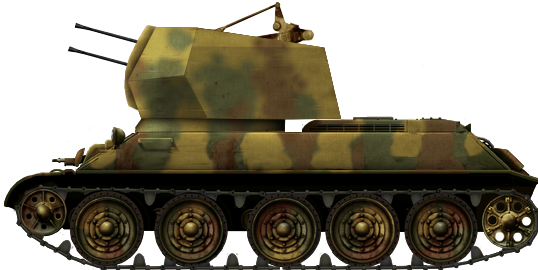 Flakpanzer T-34 (r) (2cm Flak 38 Flakvierling)