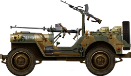 British Jeep Willys MB Italy 1944