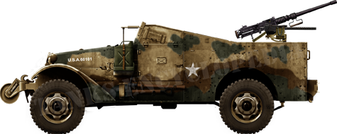 US Army M3A1 Scout Car in Tunisia, May 1943.