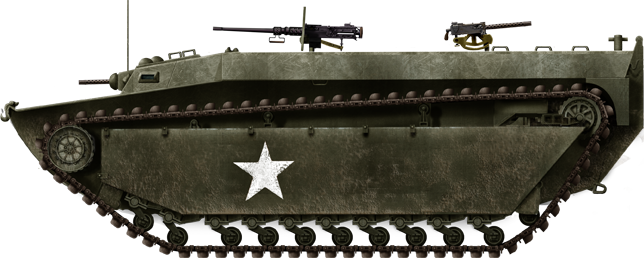 A regular US Army LVT-4 in 1944.