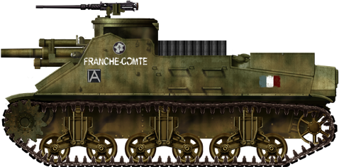 Free French M7 HMC from the 2nd Armored Division, southern France, August 1944.