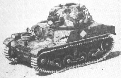 AMC 34, APX turret, top front view