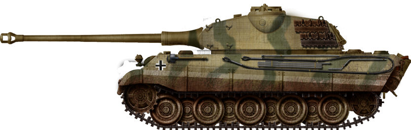Tiger II with the early Krupp turret with the curved front meant for the Porsche design