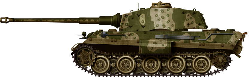 Tiger II, ambush camouflage pattern, Germany, April 1945.