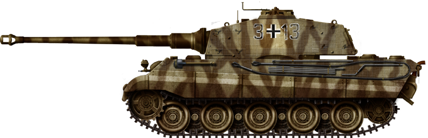 Tiger II, Pz.Abt.506, Germany, March-April 1945.