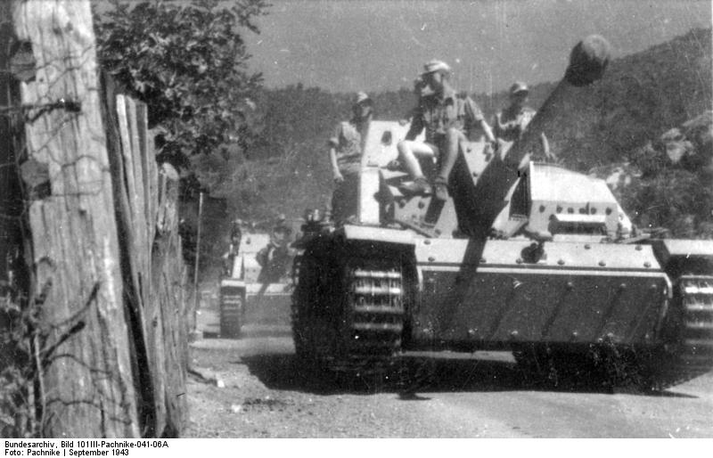 StuG III of an SS unit in Italy