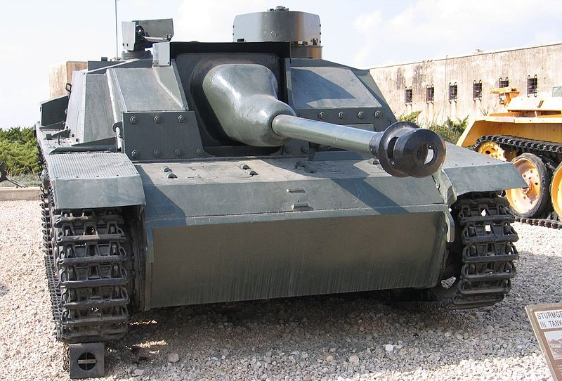Front view of a former Syrian Army StuG III