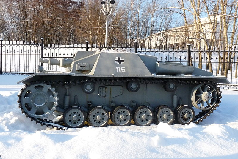 Early StuG III at the Victory Park in Moscow